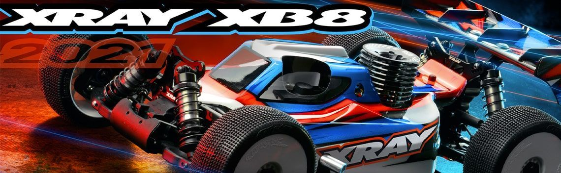 Xray XB8 cars and spare parts